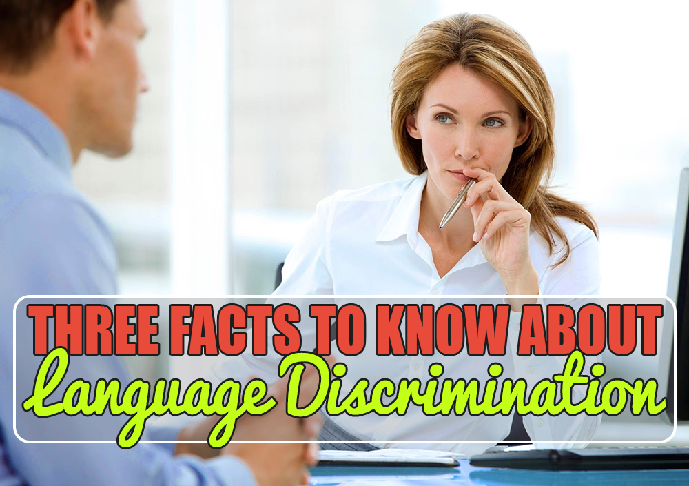Language and Workplace Discrimination
